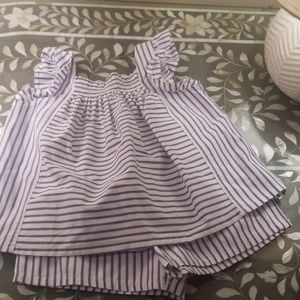 Victoria Beckham for Target 2 piece striped outfit